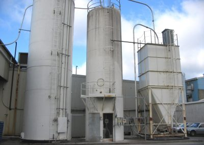Weighing of Skirted Flour Silo