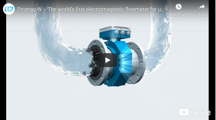 Promag W – The world's first electromagnetic flowmeter for unrestricted measurement